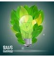 Energy saving vector image