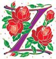 rosette letter Z vector image vector image