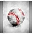 Baseball ball watercolor vector image
