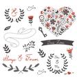 Beautiful love set vector image