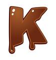 chocolate melt font type vector image