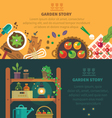Garden backgrounds for site vector image