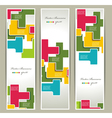 geometry banners vector image