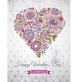 grey background with valentine heart vector image