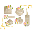 Happy spring sale tag collection vector image