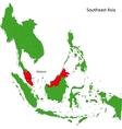 Malaysia map vector image