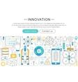 modern line flat design Innovation concept vector image