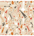 Seamless pattern of doodle arrows pointers vector image