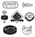 Set of keys logo templates vector image