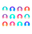 social network and media avatars collection - vector image