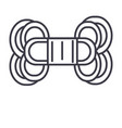 yarn line icon sign on vector image