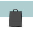 black shopping paper bag vector image vector image