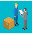Client Delivery Isometric Composition vector image