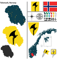 Map of Telemark vector image