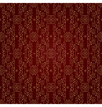 Floral vintage seamless pattern on red background vector image