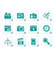 stylized web site computer and business icons vector image vector image