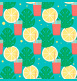 tropical cocktail seamless pattern vector image