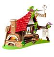 cheerful pizzeria vector image