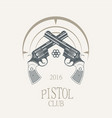 pistols revolvers in vintage style - vector image