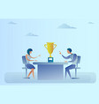 abstract successful business man and woman sitting vector image