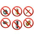 firecrackers banned vector image