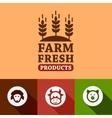 flat farm products emblems vector image