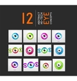 Eye design hi-tech concepts collection vector image