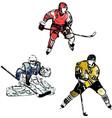 hockey trio vector image