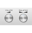 controls for volume vector image vector image