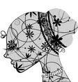lace female head vector image