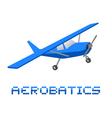 Aerobatics plane vector image