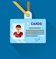 id card user or worker identification badge for vector image