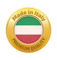 Made in Italy badge gold vector image