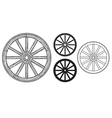 old wooden wheel vector image