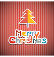 Retro Paper Christmas Background vector image