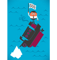Sinking Ship vector image