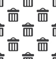 trash bin seamless pattern vector image