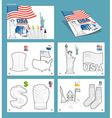 USA coloring book Patriotic Statel Symbols Ameri vector image