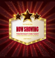 showtime retro signs vector image