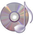 Musical note and cd disk - music icon vector image vector image