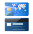 Blue Credit Card Set Isolated on White Backg vector image vector image
