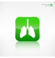 Human lung icon Medical background Health care vector image vector image