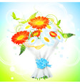 flower bouquet vector image vector image