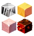 Textures for Platformers Icons Set vector image