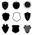 shield set vector image vector image