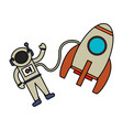 astronaut rocket exploration image vector image