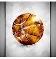 Basketball ball watercolor vector image