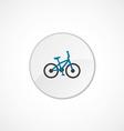 bike icon 2 colored vector image