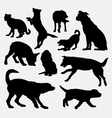 Dog pet animal silhouette 9 vector image