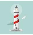 flat lighthouse Cartoon landscape vector image